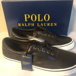 Men's Polo Shoes-Brown Leather